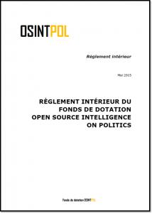 Règlement d'OSINTPOL - Page de couverture du document