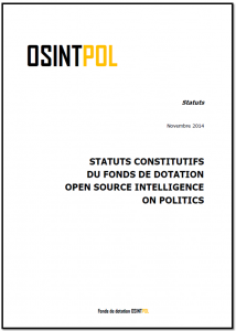 Statuts d'OSINTPOL - Page de couverture du document