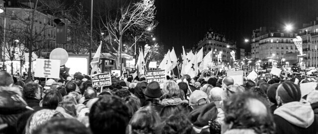 Rassemblement place de la République à Paris le 11 janvier 2015 suite aux attaques de Charlie Hebdo et de l Hypercasher Laurent Sauvebois
