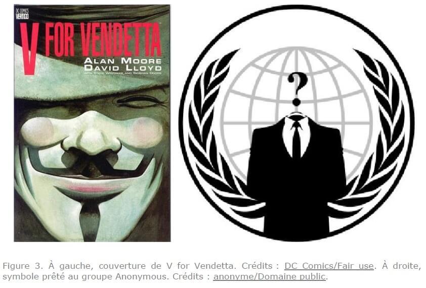figure-3-a-gauche-couverture-de-v-for-vendetta-credits-dc-comics-fair-use-a-droite-symbole-prete-au-groupe-nonymous-Credits-anonyme-domaine public.